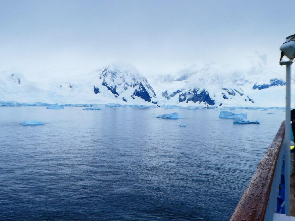 Antarctica zicht van op het ship