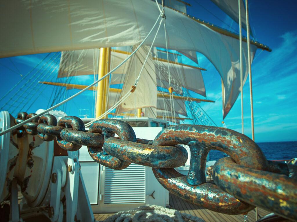 ketting van een zeilschip