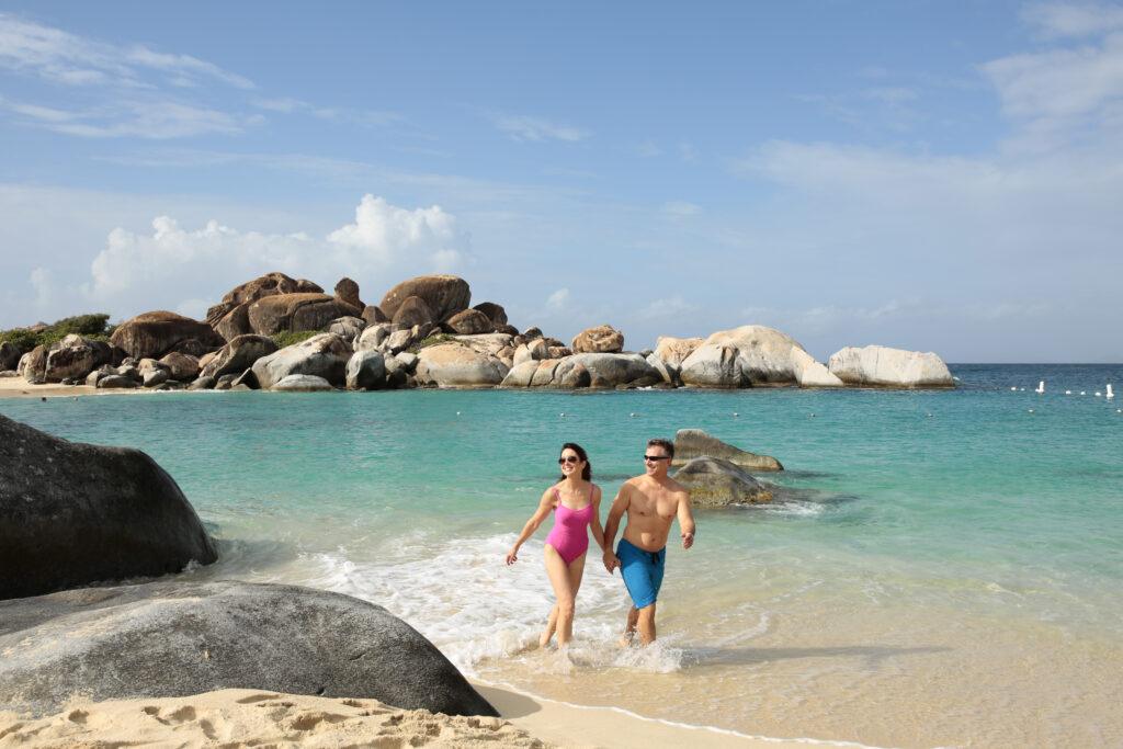 koppel aan het strand in de Caraibbean