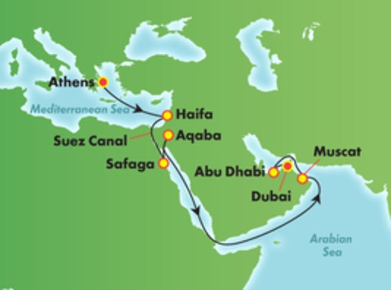 Map route Dubai